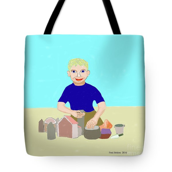 Sand Sculptor Tote Bag by Fred Jinkins