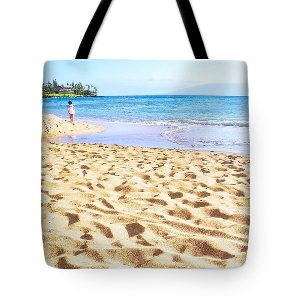 Sand Sea And Shadows Tote Bag