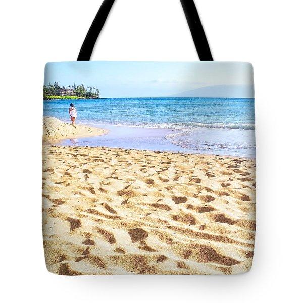 Sand Sea And Shadows Tote Bag