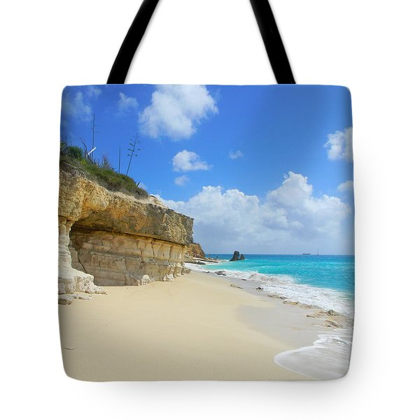 Sand Sea And Sky Tote Bag by Expressionistart studio Priscilla Batzell