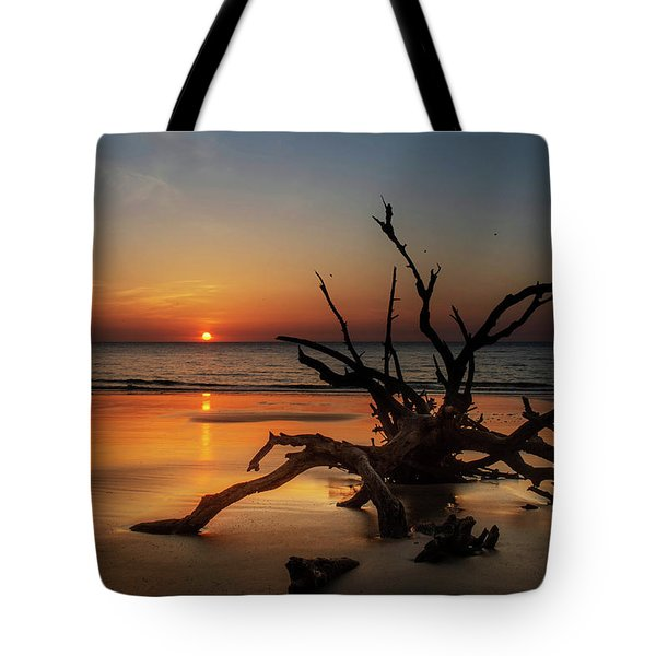 Sand Surf And Driftwood Tote Bag