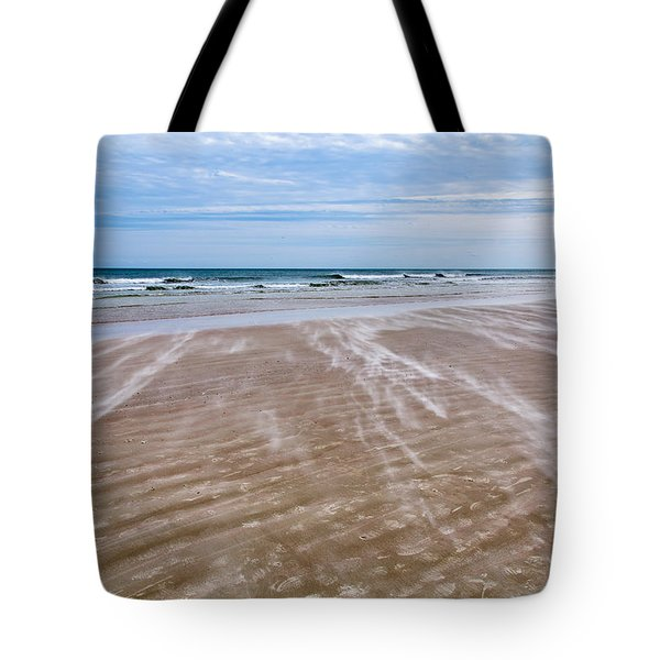Tote Bag featuring the photograph Sand Swirls On The Beach by John M Bailey