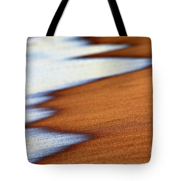Sand And Waves Tote Bag by Tony Cordoza