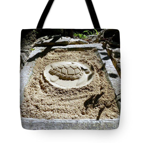 Tote Bag featuring the photograph Sand Turtle Print by Francesca Mackenney