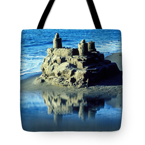 Sandcastle On Beach Tote Bag by Garry Gay