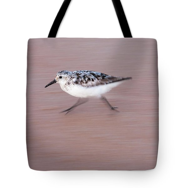 Sanderling On The Run Tote Bag