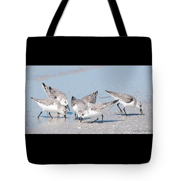 Tote Bag featuring the photograph Sanderlings by Nature and Wildlife Photography