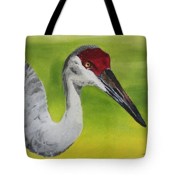 Sandhill Crane Tote Bag by D Turner