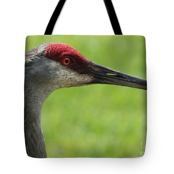 Sandhill Crane Profile Tote Bag by Carol Groenen