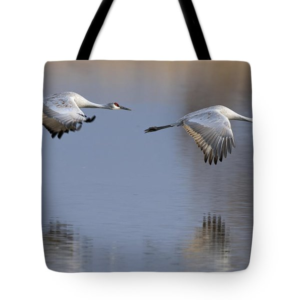 Sandhill Crane Returning Tote Bag
