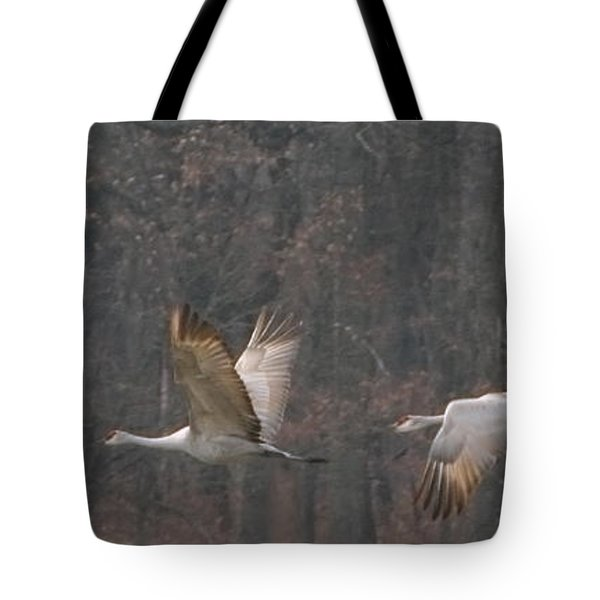 Tote Bag featuring the photograph Sandhills In Flight by Shari Jardina