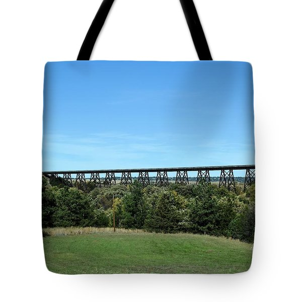 Sandhills Railroad Bridge  Tote Bag