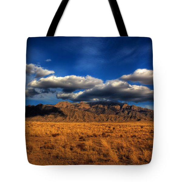 Sandia Crest In Late Afternoon Light Tote Bag