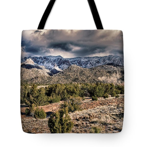 Sandia Mountain Landscape Tote Bag by Alan Toepfer