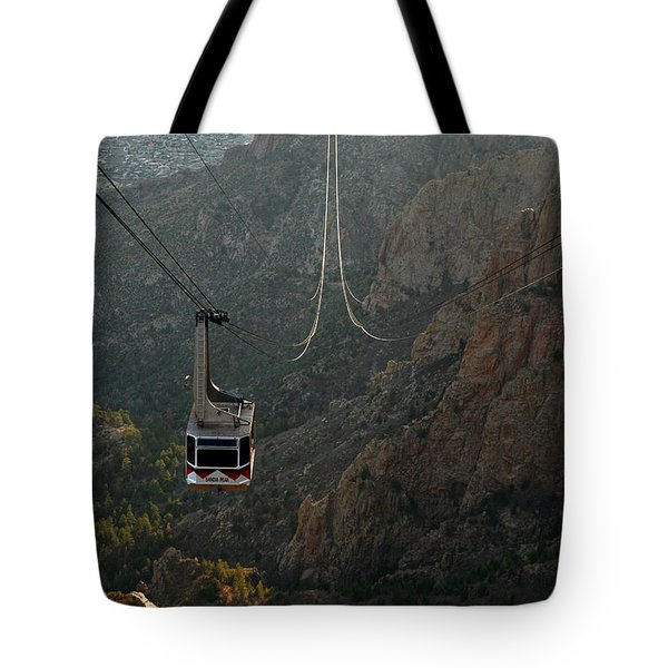 Sandia Peak Cable Car Tote Bag by Joe Kozlowski