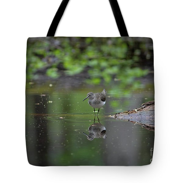 Sandpiper In The Smokies Tote Bag by Douglas Stucky