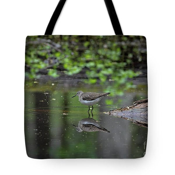 Tote Bag featuring the photograph Sandpiper In The Smokies II by Douglas Stucky