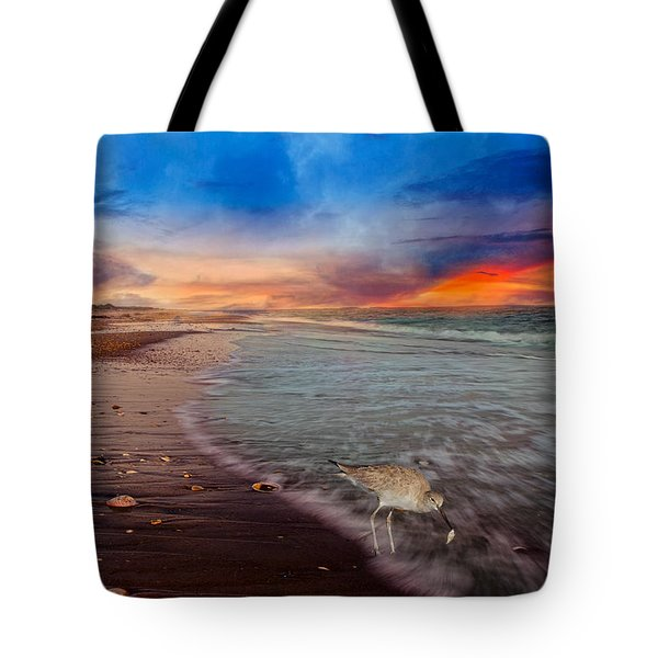 Sandpiper Sunrise Tote Bag
