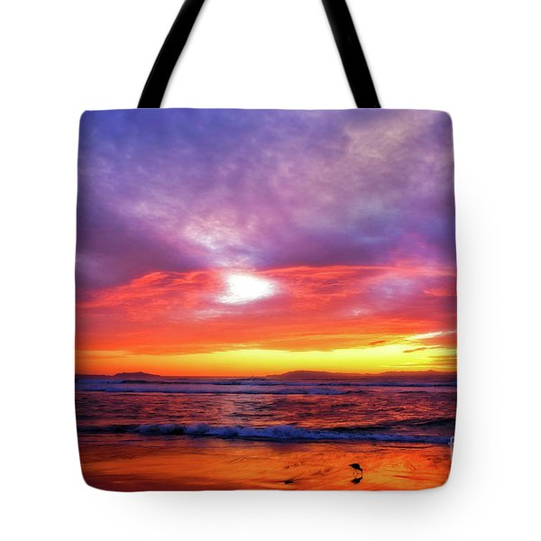 Sandpiper Sunset Ventura California Tote Bag