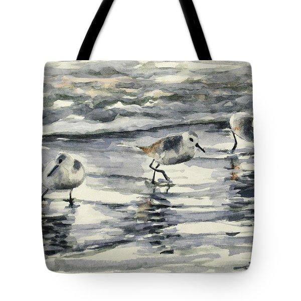 Sandpipers 3  12-11-17 Tote Bag