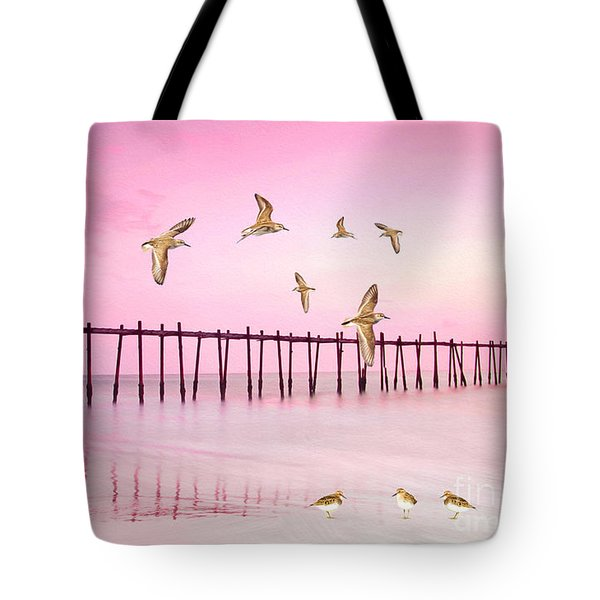 Sandpiper Sunset Tote Bag