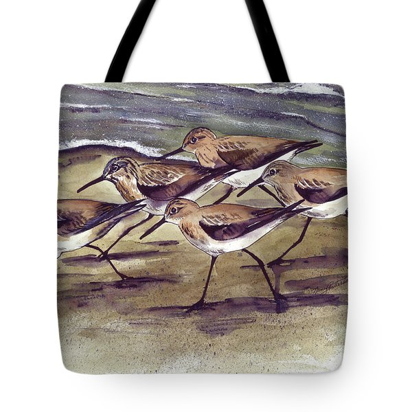 Sandpipers Tote Bag by Nancy Patterson