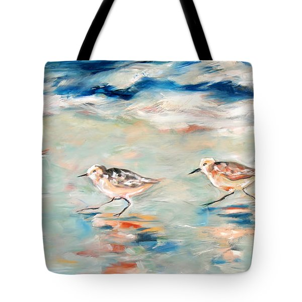 Sandpipers Running Tote Bag