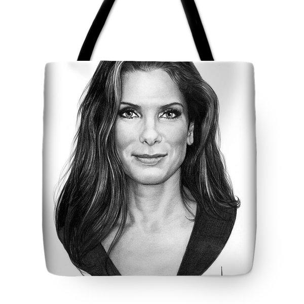 Sandra Bullock Drawing Tote Bag