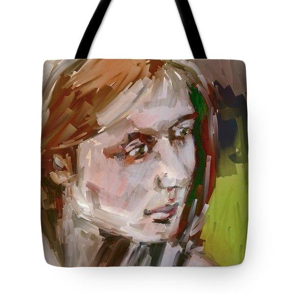 Tote Bag featuring the digital art Sandra by Jim Vance