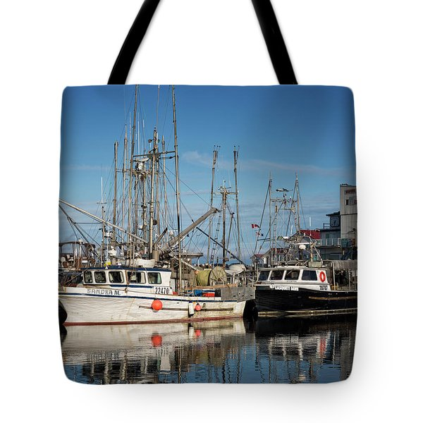 Tote Bag featuring the photograph Sandra M And Lasqueti Dawn by Randy Hall