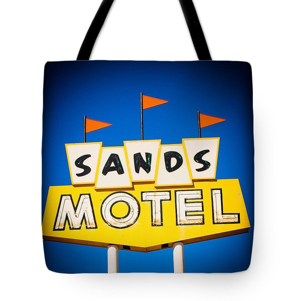 Sands Motel Vintage Neon Sign Tote Bag