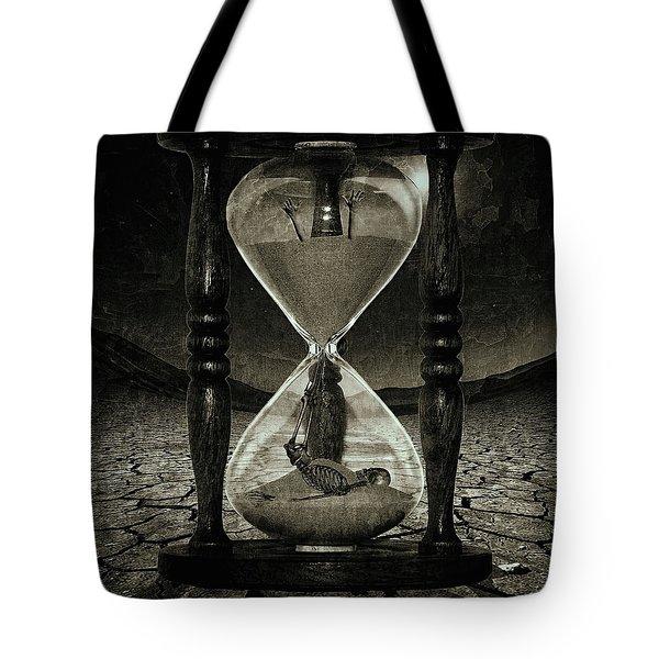 Sands Of Time ... Memento Mori - Monochrome Tote Bag