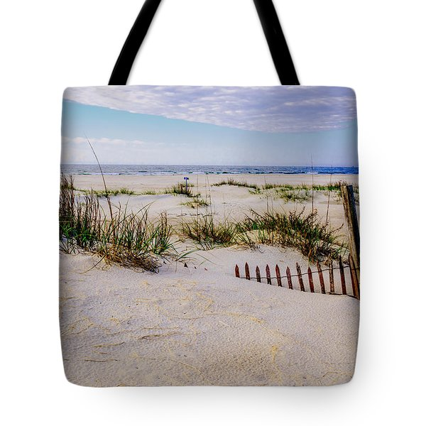 Sand  Fences On The Bogue Banks 2 Tote Bag