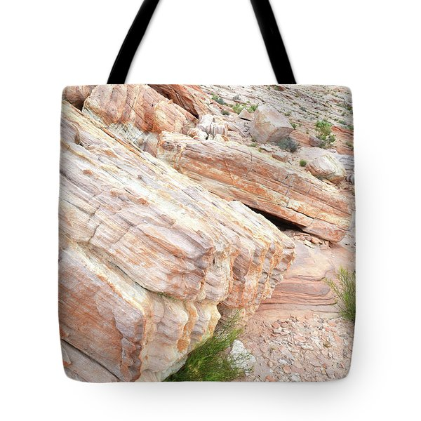 Tote Bag featuring the photograph Sandstone Along Park Road In Valley Of Fire by Ray Mathis