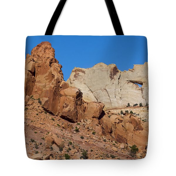 Sandstone Arch At Capitol Reef Tote Bag