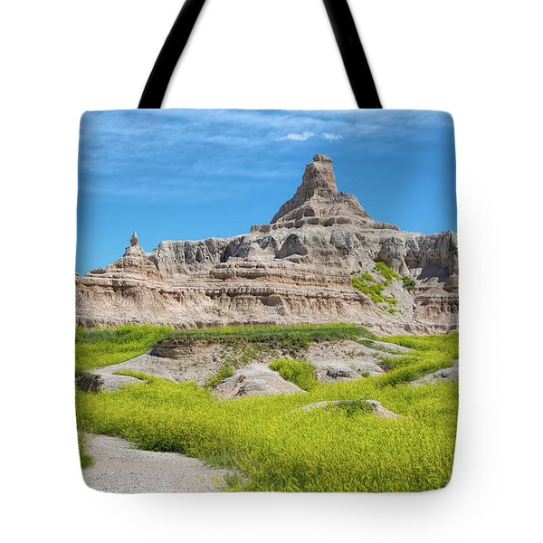 Tote Bag featuring the photograph Sandstone Battlestar by John M Bailey