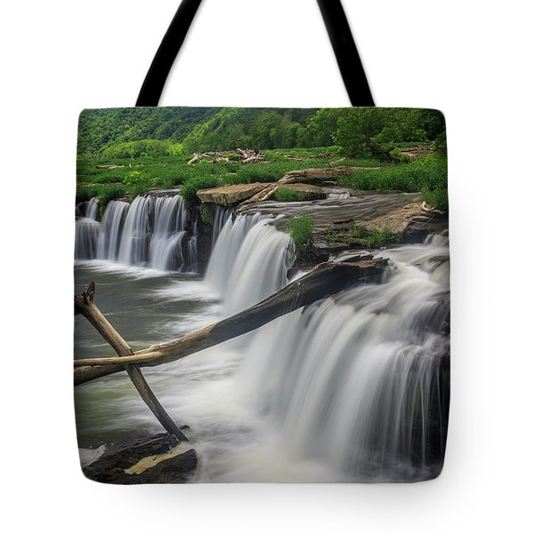 Tote Bag featuring the photograph Sandstone Falls by Ronald Santini