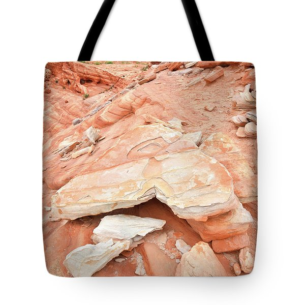 Tote Bag featuring the photograph Sandstone Heart In Valley Of Fire by Ray Mathis