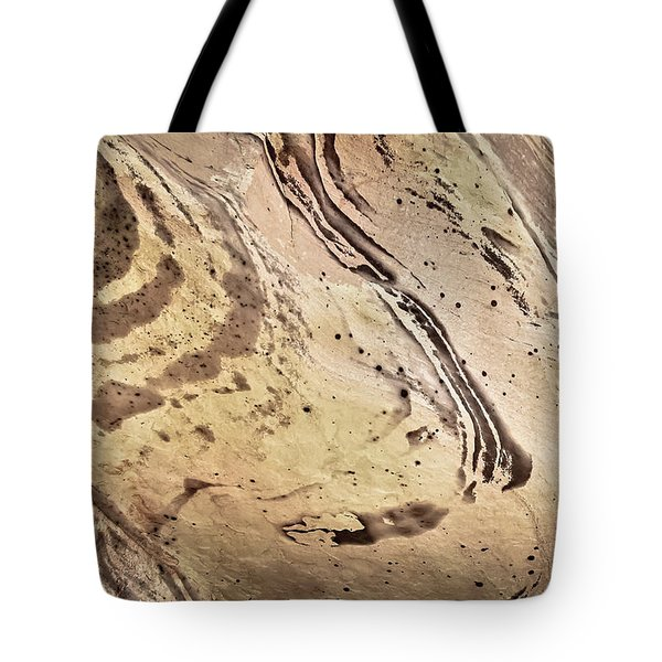 Tote Bag featuring the photograph Sandstone Swirls by Tom Vaughan
