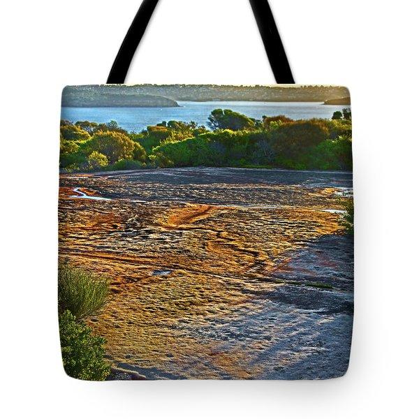 Tote Bag featuring the photograph Sandstone Platform by Miroslava Jurcik