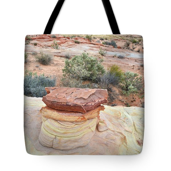 Tote Bag featuring the photograph Sandstone Toadstool In Valley Of Fire by Ray Mathis