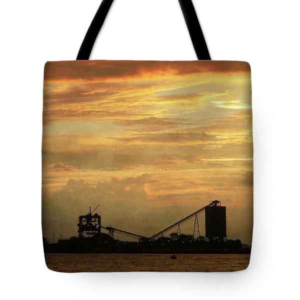 Sandusky Coal Dock Sunset Tote Bag by Shawna Rowe