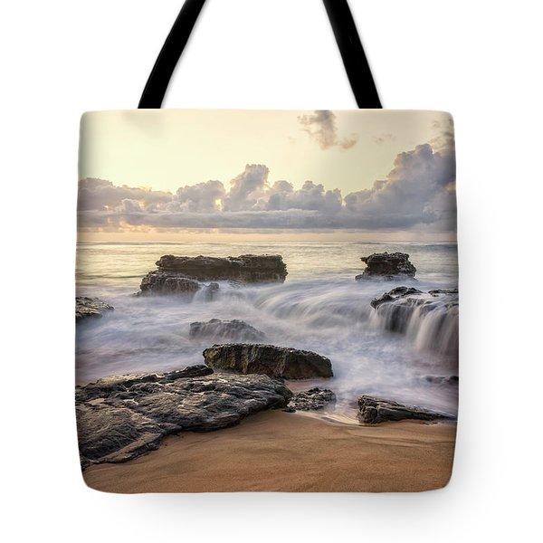 Sandy Beach Sunrise 3 - Oahu Hawaii Tote Bag by Brian Harig