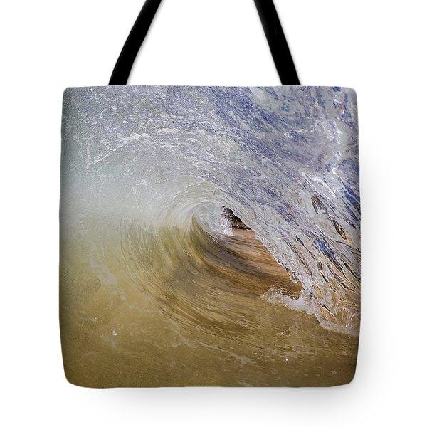Sandy Beachbreak Wave Tote Bag