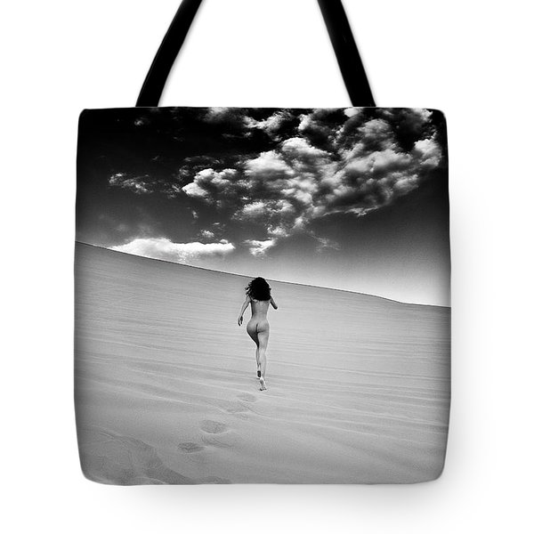 Sandy Dune Nude - Catching The Clouds Tote Bag