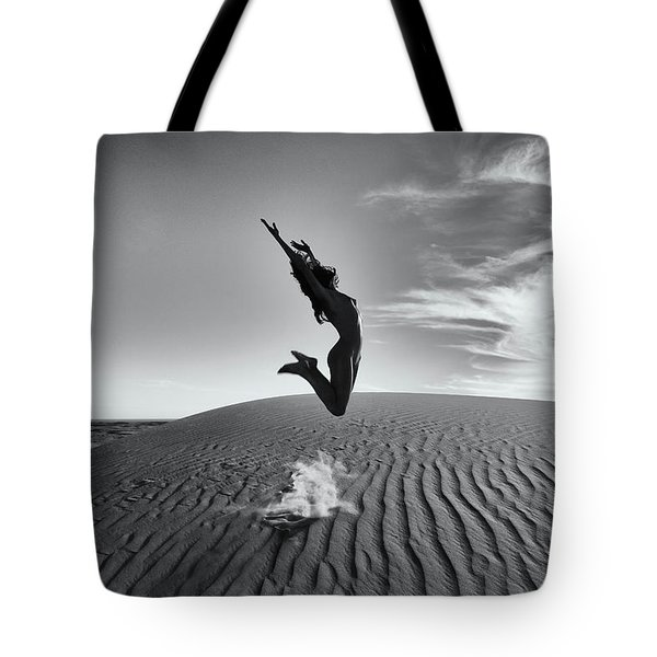 Sandy Dune Nude - The Jump Tote Bag
