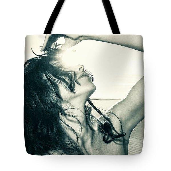 Sandy Dune Nude - The Woman Tote Bag