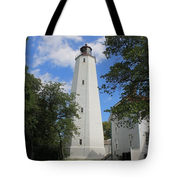 Sandy Hook Lighthouse Tower Tote Bag