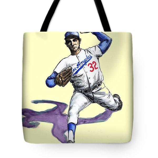 Sandy Koufax Tote Bag by Mel Thompson