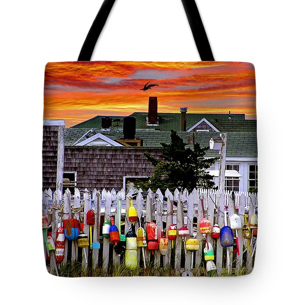 Sandy Neck Sunset Tote Bag by Charles Harden